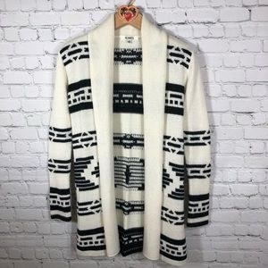 Aztec Print Sweater Cardigan